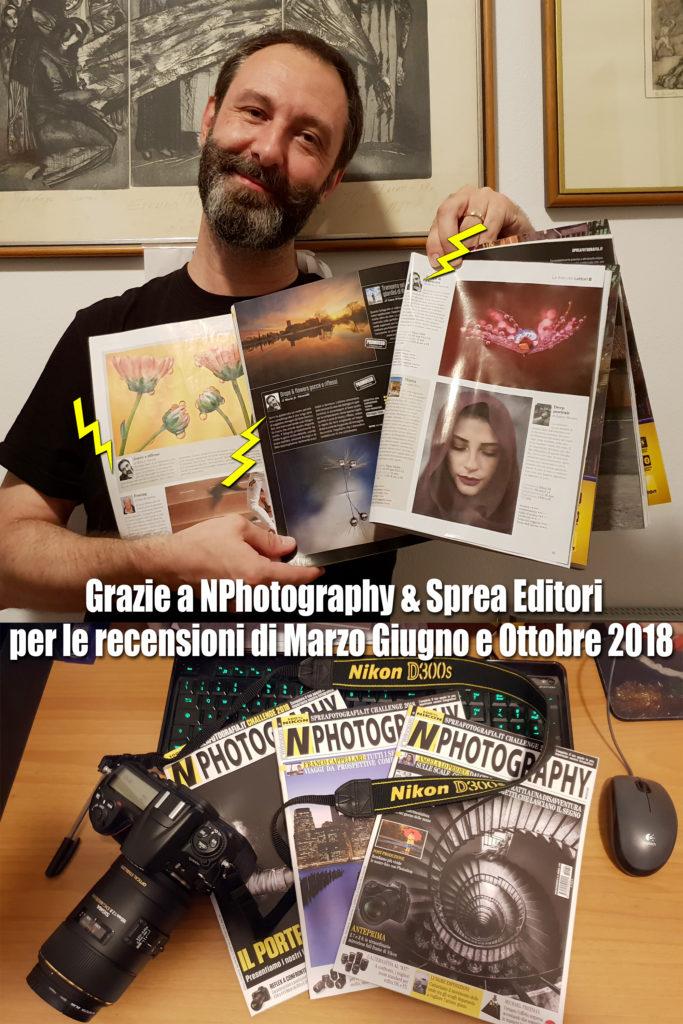 recensioni su NPhotography di marzo giugno e ottobre 2018