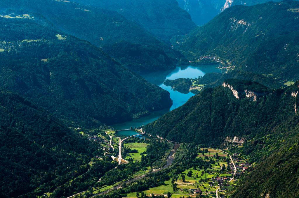 Vista dal monte Avena la Valle nel comune di Fonzaso
